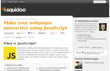 http://www.squidoo.com/make-your-webpages-interactive-using-javascript