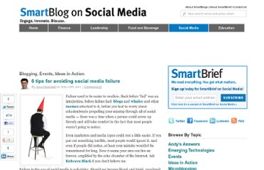 http://smartblogs.com/social-media/2011/06/10/6-ways-to-avoid-social-media-failure/