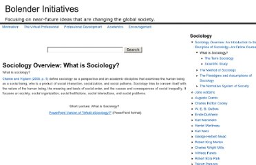 http://www.bolenderinitiatives.com/sociology-overview-introduction-discipline-sociololgy-online-course/sociology-overview-what-sociolog