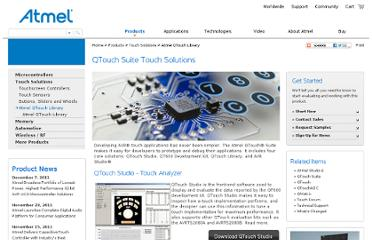 http://www.atmel.com/products/TouchSolutions/touchsoftware/qtouchsuite.aspx