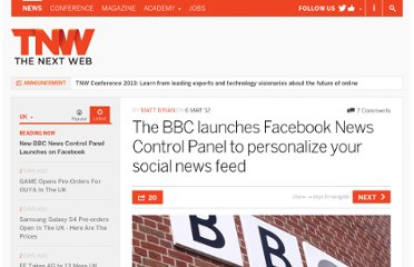 http://thenextweb.com/uk/2012/03/06/the-bbc-launches-facebook-news-control-panel-to-personalize-your-social-news-feed/