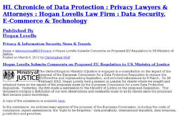 http://www.hldataprotection.com/2012/03/articles/international-eu-privacy/hogan-lovells-submits-comments-on-proposed-eu-regulation-to-uk-ministry-of-justice/index.html