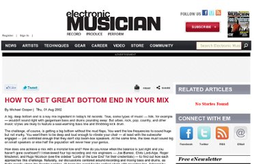 http://www.emusician.com/news/0766/how-to-get-great-bottom-end-in-your-mix/143937