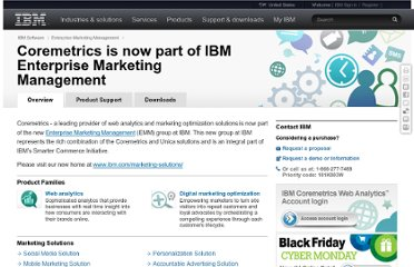 http://www.ibm.com/software/marketing-solutions/coremetrics/