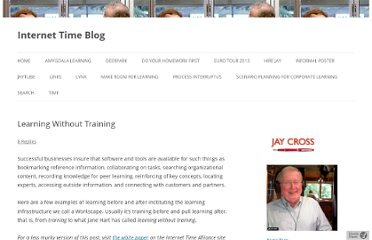 http://www.internettime.com/2012/03/learning-without-training/
