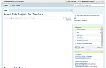 http://weewebwonders.pbworks.com/w/page/9067376/About%20This%20Project%3A%20For%20Teachers