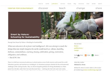 http://www.ecoliteracy.org/essays/excerpt-smart-nature-schooling-sustainability