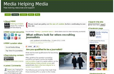 http://www.mediahelpingmedia.org/training-resources/journalism-basics/664-what-editors-look-for-when-recruiting-journalists