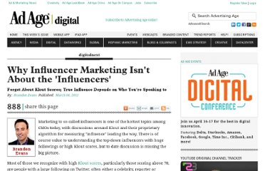 http://adage.com/article/digitalnext/influencer-marketing-influencers/233125/