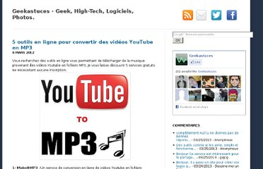 http://geekastuces.blogspot.com/2011/12/outils-convertir-videos-youtube-en-mp3.html