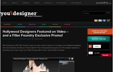 http://www.youthedesigner.com/2012/03/05/hollywood-designers-video-features-and-a-filter-foundry-exclusive-promo/