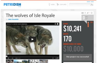 http://www.petridish.org/projects/the-wolves-of-isle-royale