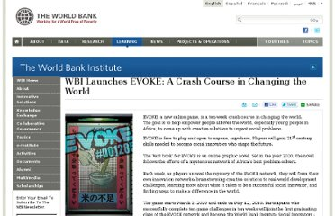 http://wbi.worldbank.org/wbi/news/2010/02/18/wbi-launches-evoke-crash-course-changing-world