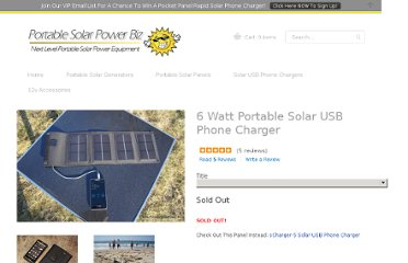 http://www.portablesolarpower.biz/products/6-watt-portable-solar-usb-mobile-phone-charger