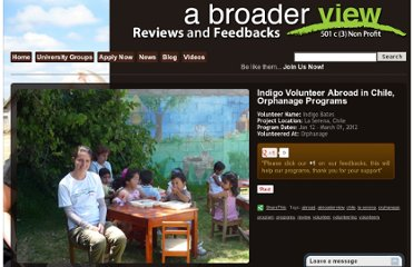 http://feedback.abroaderview.org/2012/03/06/indigo-volunteer-abroad-in-chile-orphanage-programs/