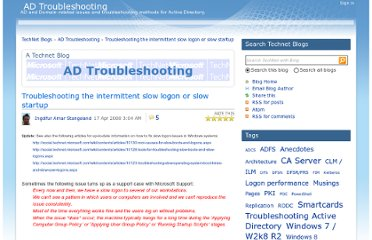 http://blogs.technet.com/b/instan/archive/2008/04/17/troubleshooting-the-intermittent-slow-logon-or-slow-startup.aspx