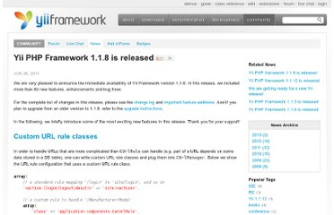 http://www.yiiframework.com/news/48/yii-php-framework-1-1-8-is-released/