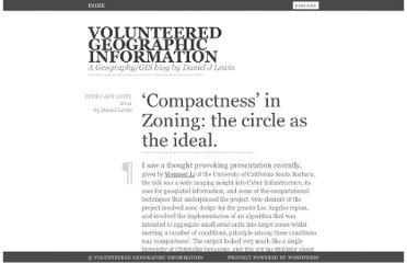 http://danieljlewis.org/2011/02/26/compactness-in-zoning-the-circle-as-the-ideal/