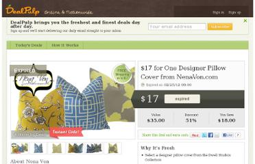 http://dealpulp.com/deal/NenaVon.com/496/for_one_designer_pillow_cover_from_nenavon_com
