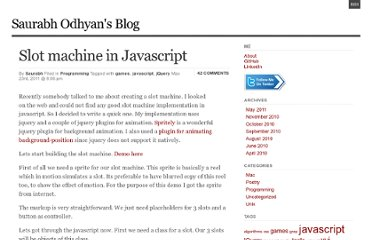 http://odhyan.com/blog/2011/05/slot-machine-in-javascript/