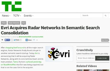 http://techcrunch.com/2010/03/11/evri-acquires-radar-networks/