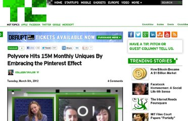 http://techcrunch.com/2012/03/06/polyvore-hits-15m-monthly-uniques-by-embracing-the-pinterest-effect/