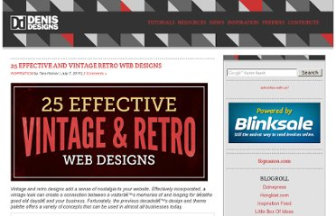 http://www.denisdesigns.com/blog/2011/07/25-effective-and-vintage-retro-web-designs/
