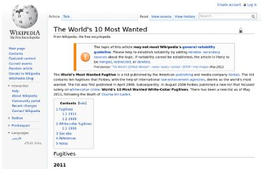 http://en.wikipedia.org/wiki/The_World%27s_10_Most_Wanted