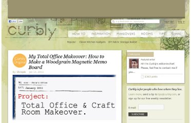 http://www.curbly.com/users/chrisjob/posts/9726-my-total-office-makeover-how-to-make-a-woodgrain-magnetic-memo-board