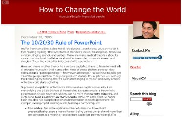 http://blog.guykawasaki.com/2005/12/the_102030_rule.html#axzz0lpiwnc1J