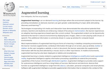 http://en.wikipedia.org/wiki/Augmented_learning