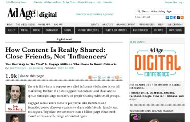 http://adage.com/article/digitalnext/content-shared-close-friends-influencers/233147/