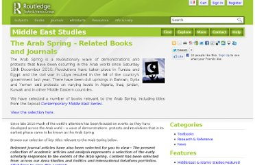 http://www.routledge.com/middleeaststudies/articles/the_arab_spring_-_related_books_and_journals/