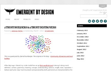http://emergentbydesign.com/2012/03/07/5-trust-builders-5-trust-destroyers/
