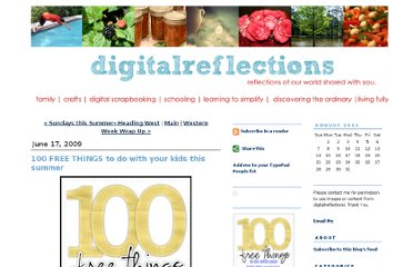 http://www.digitalreflections.typepad.com/digital_reflections/2009/06/100-free-things-to-do-with-your-kids-this-summer.html