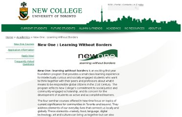 http://www.newcollege.utoronto.ca/academics/newone-learning-without-borders/