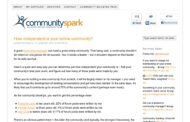 http://www.communityspark.com/how-independent-is-your-online-community/#comments