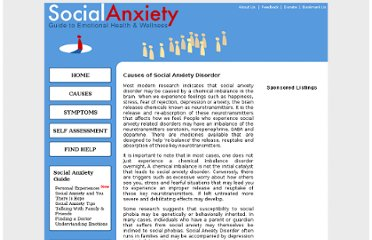 http://www.social-anxiety-disorder-resources.com/causes-of-social-anxiety-disorder.html