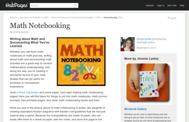 http://www.squidoo.com/math-notebooking