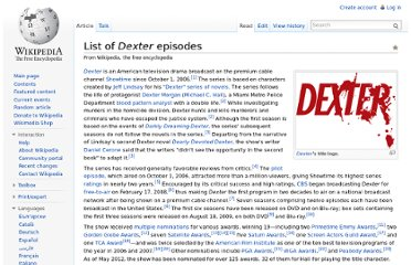 http://en.wikipedia.org/wiki/List_of_Dexter_episodes