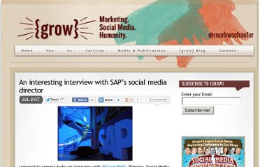 http://www.businessesgrow.com/2010/07/21/an-interesting-interview-with-saps-social-media-director/