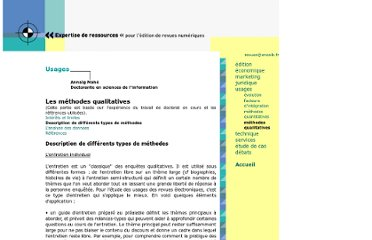 http://revues.enssib.fr/titre/5usages/4qualitatives/2diff-types.htm