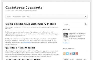 http://coenraets.org/blog/2012/03/using-backbone-js-with-jquery-mobile/