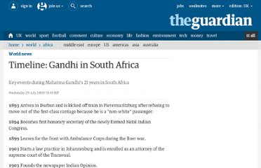 http://www.guardian.co.uk/world/2009/jul/29/gandhi-south-africa-timeline