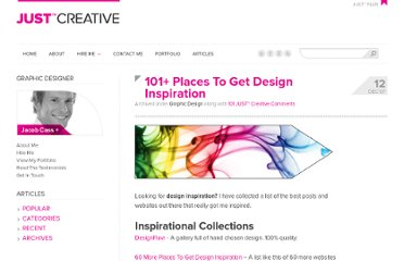 http://justcreative.com/2007/12/12/101-places-to-get-design-inspiration/
