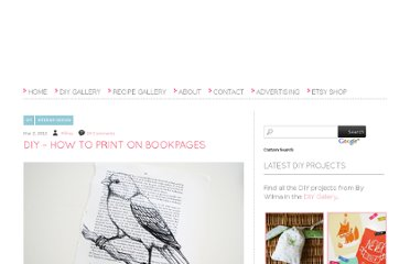 http://bywilma.com/2012/03/02/diy-how-to-print-on-bookpages/#more-743