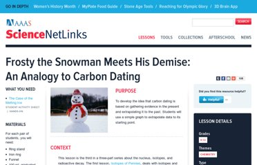 http://sciencenetlinks.com/lessons/frosty-the-snowman-meets-his-demise/