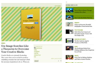 http://lifehacker.com/5891689/use-image-searches-like-a-thesaurus-to-overcome-your-creative-blocks