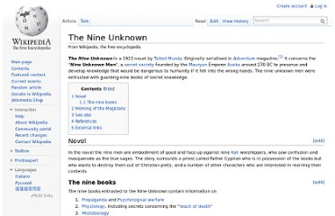 http://en.wikipedia.org/wiki/The_Nine_Unknown