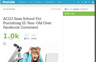 http://mashable.com/2012/03/08/aclu-sues-school-facebook/
